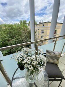 Apartament Verde z balkonem we Wrocławiu
