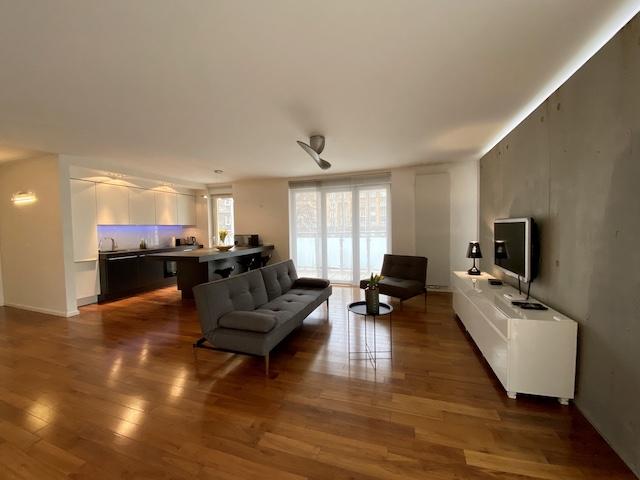 wroclaw apartament aravel avio przestronny salon z aneksem kuchennym